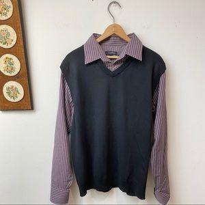Oakridge Sweater Vest Button Down Shirt